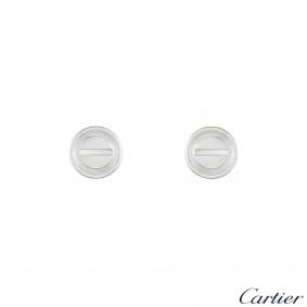 Cartier White Gold Love Earrings B8301256